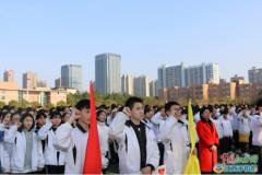 新余四中举行2018年中考百日誓师大会